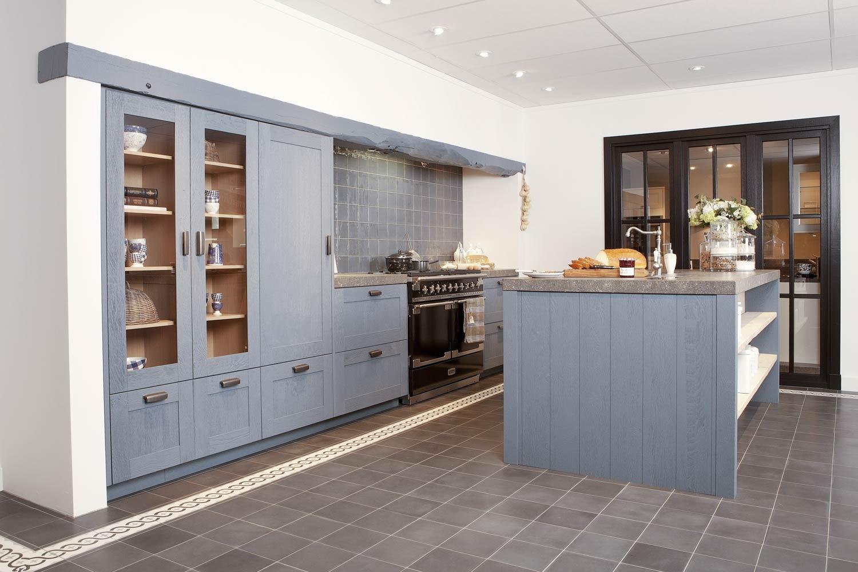Blauwe Landelijke Keuken : Blauwe keukens