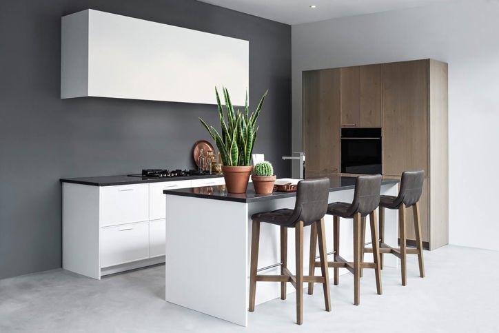 Keuken grijze muur - Kleur die past bij de grijze ...